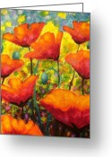 Landscape Cards Greeting Cards - Poppy Corner Greeting Card by John  Nolan