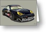 Alms Greeting Cards - Porsche 996 GT3 RSR Greeting Card by Alain Jamar