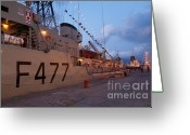 Nato Greeting Cards - Portuguese Navy frigates Greeting Card by Gaspar Avila