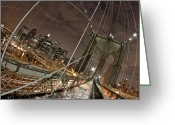 New York New York Com Greeting Cards - Power of Perspective Greeting Card by Joshua Ball