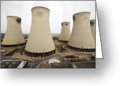 Most Photo Greeting Cards - Power Station Cooling Towers Greeting Card by Colin Cuthbert