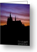 Cityspace Greeting Cards - Prague castle Greeting Card by Michal Boubin