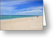 Beaches Greeting Cards - Praia de Faro Greeting Card by Carl Whitfield