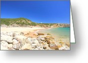 Beaches Greeting Cards - Praia do Zavial Greeting Card by Carl Whitfield