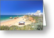 Beaches Greeting Cards - Praia dos Tres Castelos Greeting Card by Carl Whitfield