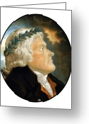 Declaration Of Independence Greeting Cards - President Thomas Jefferson Greeting Card by War Is Hell Store