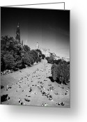 Summers Greeting Cards - Princes Street Gardens On A Hot Summers Day In Edinburgh Scotland Uk United Kingdom Greeting Card by Joe Fox
