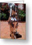 Nudes Sculpture Greeting Cards - Prior Eve IV Greeting Card by Greg Coffelt