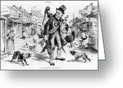 Featured Greeting Cards - Prohibition-era Cartoon Greeting Card by Photo Researchers