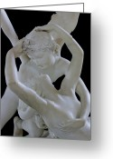 Wings Photo Greeting Cards - Psyche Revived by the Kiss of Cupid Greeting Card by Antonio Canova