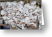 Casares Greeting Cards - Pueblo Blanco Greeting Card by Rod Jones