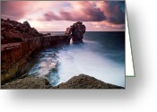 Portland Greeting Cards - Pulpit Rock Greeting Card by Nina Papiorek