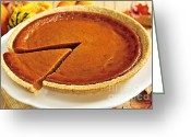 Desserts Greeting Cards - Pumpkin pie Greeting Card by Elena Elisseeva