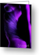 Flow Greeting Cards - Purple Love Greeting Card by David  Naman