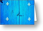 Bleu Greeting Cards - Quebec ... Greeting Card by Juergen Weiss