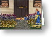 Yellow Sculpture Greeting Cards - Quiet Light Greeting Card by Anne Klar
