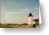 Scenic New England Greeting Cards - Race Point Light Greeting Card by Bill  Wakeley