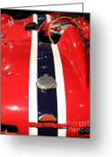 Racecars Greeting Cards - Racing Stripes Greeting Card by Wingsdomain Art and Photography