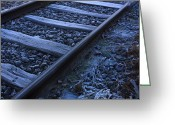 Train Photo Greeting Cards - Railway Greeting Card by Bernard Jaubert