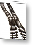 Train Photo Greeting Cards - Railway tracks Greeting Card by Bernard Jaubert