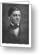 Cole Greeting Cards - Ralph Waldo Emerson Greeting Card by Granger