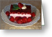 Whipped Topping Greeting Cards - Raspberry Heaven Greeting Card by Inspired Nature Photography By Shelley Myke