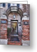 Entrance Door Greeting Cards - Rear View Greeting Card by Steven Ainsworth