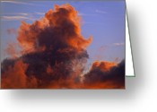 Mass. Greeting Cards - Red Clouds Greeting Card by Garry Gay