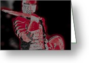 Photographs With Red. Greeting Cards - Red Knight Greeting Card by Lillian Michi Adams