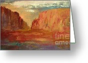Az Greeting Cards - Red Sedona Greeting Card by Julie Lueders