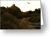 Bird Of Flight Greeting Cards - Red-Tailed Hawk At Coyote Hills California . 7D11018 Greeting Card by Wingsdomain Art and Photography
