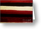 Dk Brown Greeting Cards - Red Texture Greeting Card by Marsha Heiken