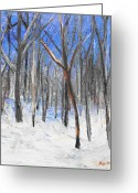 Winter Jewelry Greeting Cards - Red Tree Greeting Card by Lisa Konkol