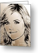 Reese Greeting Cards - Reese Witherspoon in 2010 Greeting Card by J McCombie