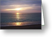Jensen Beach Greeting Cards - Reflections on the Water Greeting Card by Joyce L Kimble