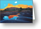 Four-wheel Greeting Cards - Reflective Intentions Greeting Card by John Foote