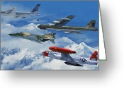 Fighter Jets Greeting Cards - Refuel over Alaska Greeting Card by Dale Jackson