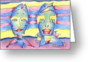 Relationship Pastels Greeting Cards - Relationship Greeting Card by Wolfgang Karl