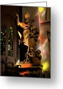 Seraph Greeting Cards - Religion Greeting Card by Urft Valley Art