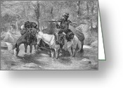 Remington Greeting Cards - Remington: Fur Trapper Greeting Card by Granger