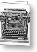 Remington Greeting Cards - Remington Typewriter Greeting Card by Granger