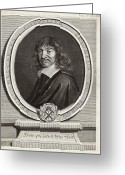 Chevalier Greeting Cards - Rene Descartes, French Mathematician Greeting Card by Humanities & Social Sciences Librarynew York Public Library