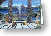 Spirit Rising Greeting Cards - Ressurrection Greeting Card by Sevan Thometz