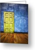 Furniture Greeting Cards - Retro Room Greeting Card by Setsiri Silapasuwanchai