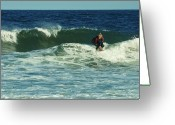 Surf Photos Art Greeting Cards - Riding Easy - Jersey Shore Greeting Card by Angie McKenzie