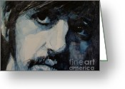 Beatles Painting Greeting Cards - Ringo Greeting Card by Paul Lovering