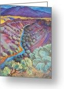 Landscape Painter Greeting Cards - Rio Grande in September Greeting Card by Gina Grundemann