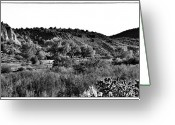 Santa Fe Greeting Cards - Rio Grande River Valley Greeting Card by David Patterson