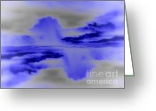 Grey Clouds Digital Art Greeting Cards - Ripples Greeting Card by Jeff Breiman