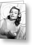 Hayworth Greeting Cards - Rita Hayworth (1918-1987) Greeting Card by Granger